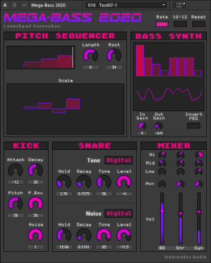 The Mega-Bass 2020 Interface